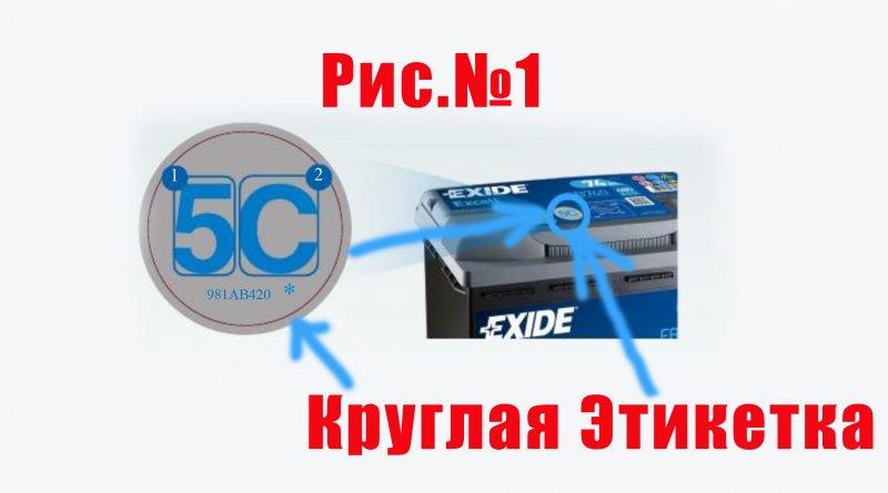 Как определить дату выпуска аккумулятора Exide