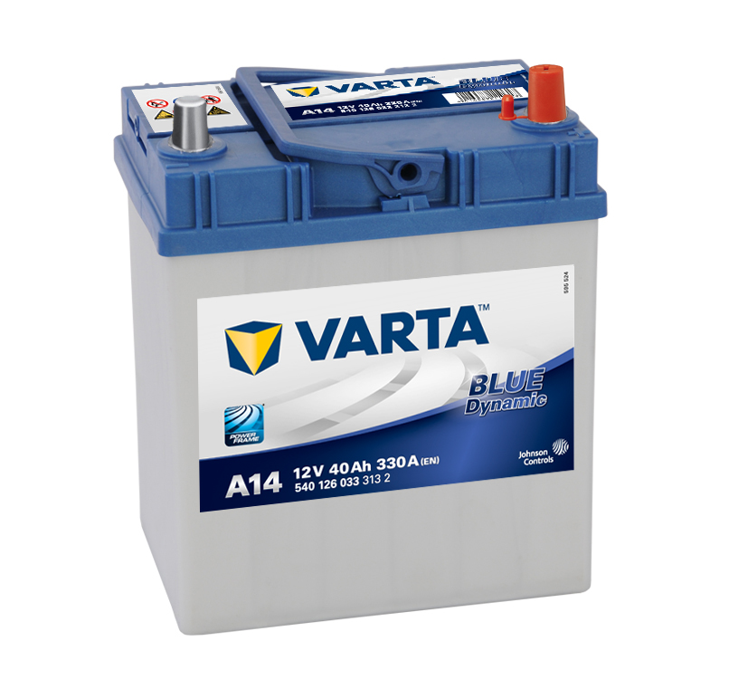 Аккумулятор Varta Blue Asia Dynamic 40а/ч 540 126 033